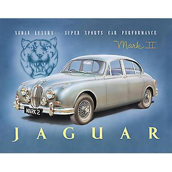 Jaguar Mark II Steel Fridge Magnet  (fd)