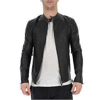 Desa 1972 Black Leather Outerwear Jacket