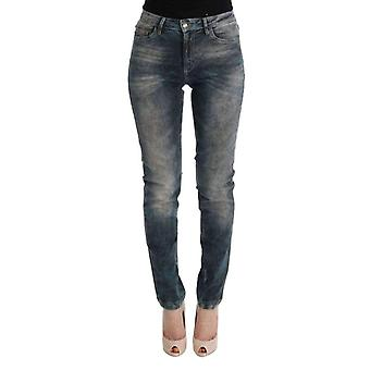Cavalli Blue Wash Cotton Blend Slim Fit Jeans -- SIG3109104