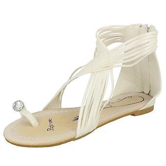 Girls Rojo Vivo Flat Strappy Toeloop Sandal