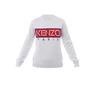 Kenzo White Cotton Sweatshirt