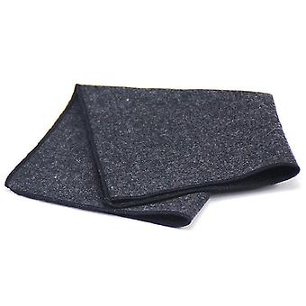 Black & grey dark trim tweed look wool pocket square
