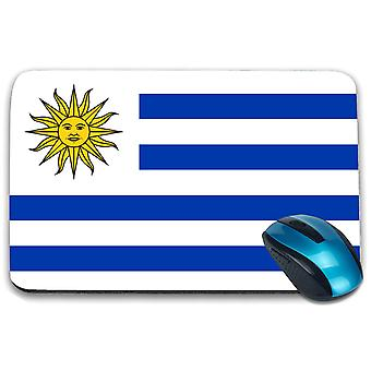 i-Tronixs - Uruguay Flag Printed Design Non-Slip Rectangular Mouse Mat for Office / Home / Gaming - 0189