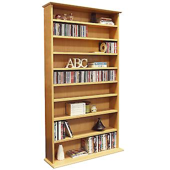 Harrogate - 760 Cd / 318 Dvd / Blu-ray Media Storage Shelves - Beech