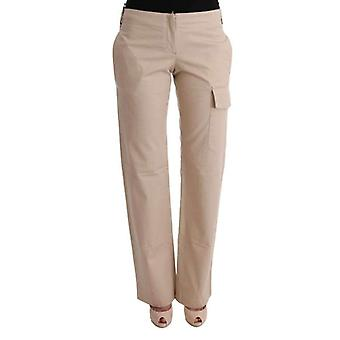 Ermanno Scervino Beige Cotton Wool Regular Fit Pants -- SIG3231984