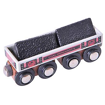 Bigjigs Rail Wooden Big Coal Wagon Carriage Locomotive Engine Accessories