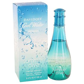 Cool Water Summer Dive by Davidoff Eau De Toilette Spray 3.4 oz / 100 ml (Women)