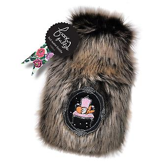 Foxy Fables Deluxe Faux Fur 1L Boudoir Hot Water Bottle