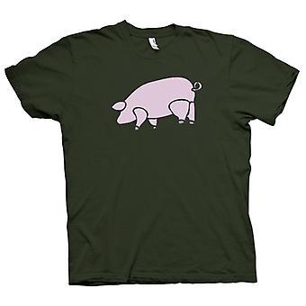 Mens t-shirt - Pink Floyd - animali - maiale