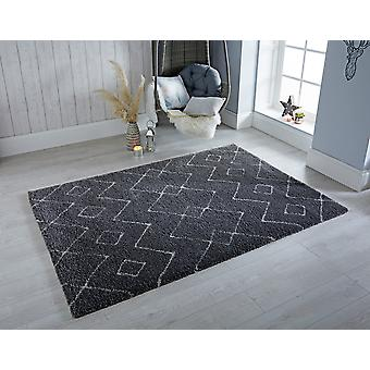 Dakari Imari Grey White  Rectangle Rugs Modern Rugs