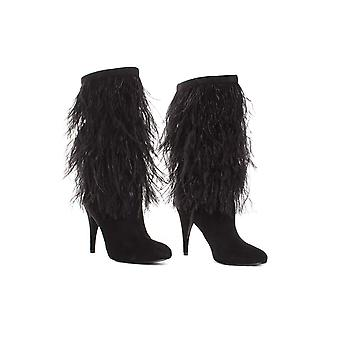 Michael Kors Asha Feather Boots (6) Black
