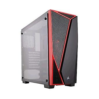 Corsair carbide spec 04 cabinet gaming midi-tower atx black/red
