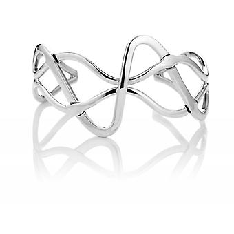 Cavendish French Sterling Silver Abstract Flowing Cuff Bangle