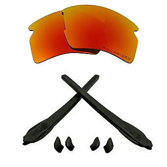 Replacement Lenses Kit Compatible with OAKLEY FLAK 2.0 XL Polarized Red & Black