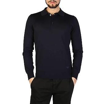 Emporio Armani Men Blue Polo -- 01M6024560