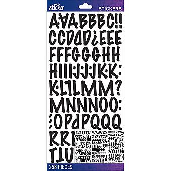 Sticko Alphabet Stickers Black Marker Medium E5290099
