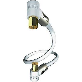 Antennas Cable [1x Belling-Lee/IEC plug 75Ω - 1x Belling-Lee/IEC socket 75Ω] 5 m 100 dB gold plated connectors White Ina