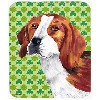 Beagle St. Patrick's Day Shamrock Portrait Mouse Pad, Hot Pad or Trivet