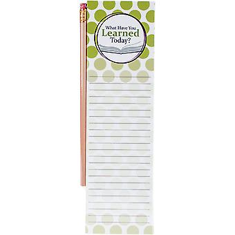 Magnetic List Pad With Pencil-Learned 1922-3