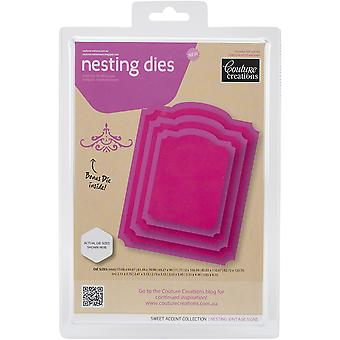 Couture Creations Nesting Dies-Vintage Signs CO723956
