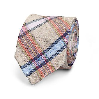 View men's tie classic beige striped special offer