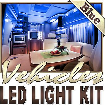 Biltek 6' ft Blue Motorhome RV Night Light Remote Controlled LED Strip Lighting SMD3528 Wall Plug - Motorhome Boat Cabin Lighting Yacht Lighting Compartment Lighting Interior Waterproof DIY 110V-220V