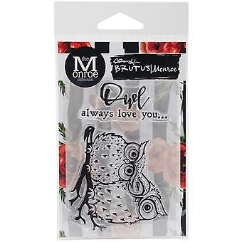 Brutus Monroe Clear Stamps 3X4-Owl Love You BRU4258