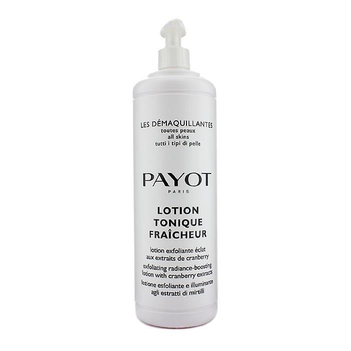 Payot Les Demaquillantes Lotion Tonique Fraicheur Peeling Glanz-Förderung Lotion - für alle Haut-Typ (Salon Size) 1000 ml / 33,8 oz