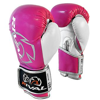 Rival Boxing RB7 Fitness+ Hook and Loop Bag Gloves - Pink/White