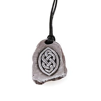 Handmade Stone Effect Oval Design filled with Celtic Knotwork Resin Pendant