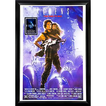 Aliens - Signed Movie Poster