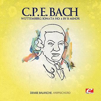 C.P.E Bach - C.P.E Bach: Wüttemberg Sonate Nr. 6 in H-Moll [CD] USA import