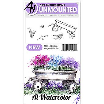Art Impressions Watercolor Cling Rubber Stamps 4
