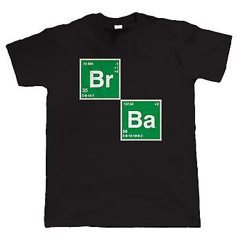 BR BA bromo bario, Mens T Shirt - Meth di cristallo di tavola periodica degli elementi