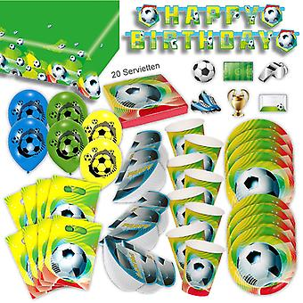 Football decoration party set XL 70-teilig for 6 guests Cup decoration party package