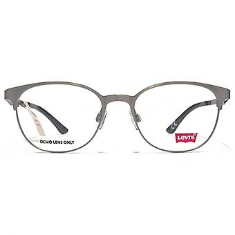 Levis Peaked Round Glasses In Shiny Gunmetal