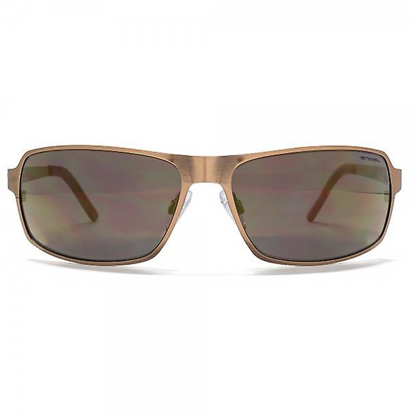 Animal Edge Flatsheet Metal Wrap Sunglasses In Brushed Light Bronze