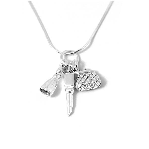 W.A.T Sterling Silver Girly Girly Charm Necklace