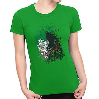 Dark Knight Batman Arkham Fledermäuse Joker Damen T-Shirt