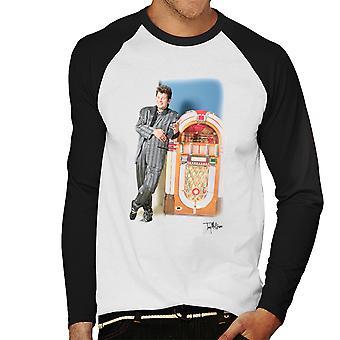 Ozzy Osbourne 80s Jukebox Men's Baseball Long Sleeved T-Shirt