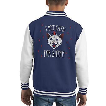 Ik huisdier katten voor Satan Kid's Varsity Jacket