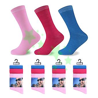 Damen Feminine Plain Fashion Socken 4-6 Größe 12 Paare