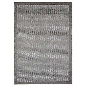 Outdoor carpet for Terrace / balcony grey Essentials chrome grey 200 / 290 cm carpet indoor / outdoor - for indoors and outdoors