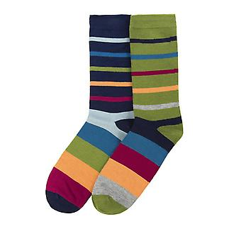 Jarvis-Stripe mens soft bamboo crew socks 2pk | By Thought (Braintree)