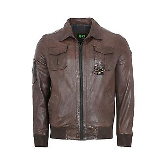 QUADRO promotion ONeal jacket mens lamb leather-jacket Brown