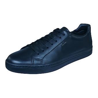Geox U Ricky F Mens Leather Trainers / Shoes - Black