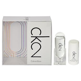 Calvin Klein CK2 Gift Set 50ml EDT + 100ml bodylotion + 100ml haar & Body Wash
