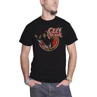 Ozzy Osbourne T Shirt dagbog af en galning Tour 1982 Logo officielle Herre nye sort