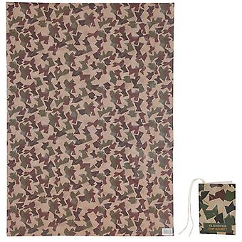 Funky Wrapping Paper Sheet and Gift Tag - Camouflage