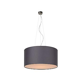 Lucide Grey CORAL Fabric Cylinder Ceiling Light Pendant Shade
